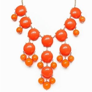 J.Crew bubble coral orange necklace